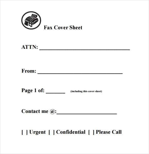 10+ Fax Cover Sheet Templates