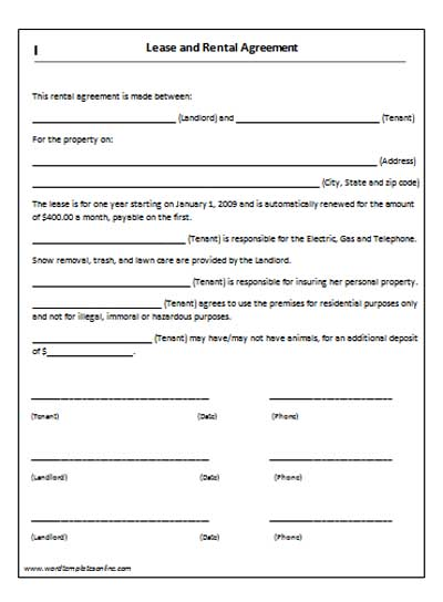 20+ Lease Agreement Templates   Word Excel Pdf Formats