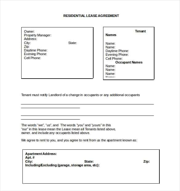 lease agreement template 2