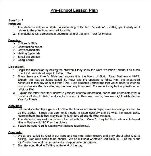 lesson plan template 6