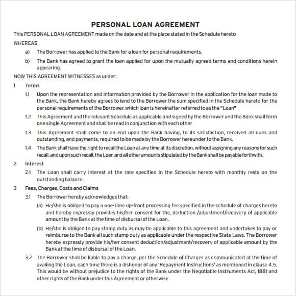 Loan Agreement Draft. Networkkansas Com | If You Want To Give Out