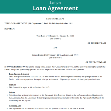 Construction loan agreement template archives word templates 20 loan agreement templates platinumwayz