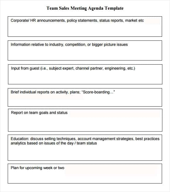 meeting agenda template 5