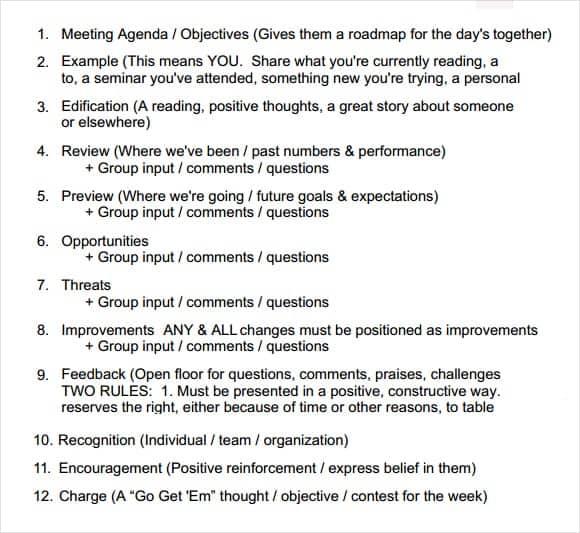 meeting agenda template 8