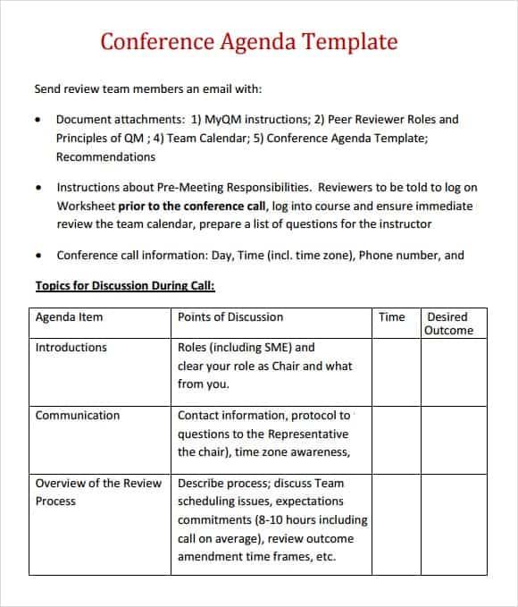 meeting agenda template 9