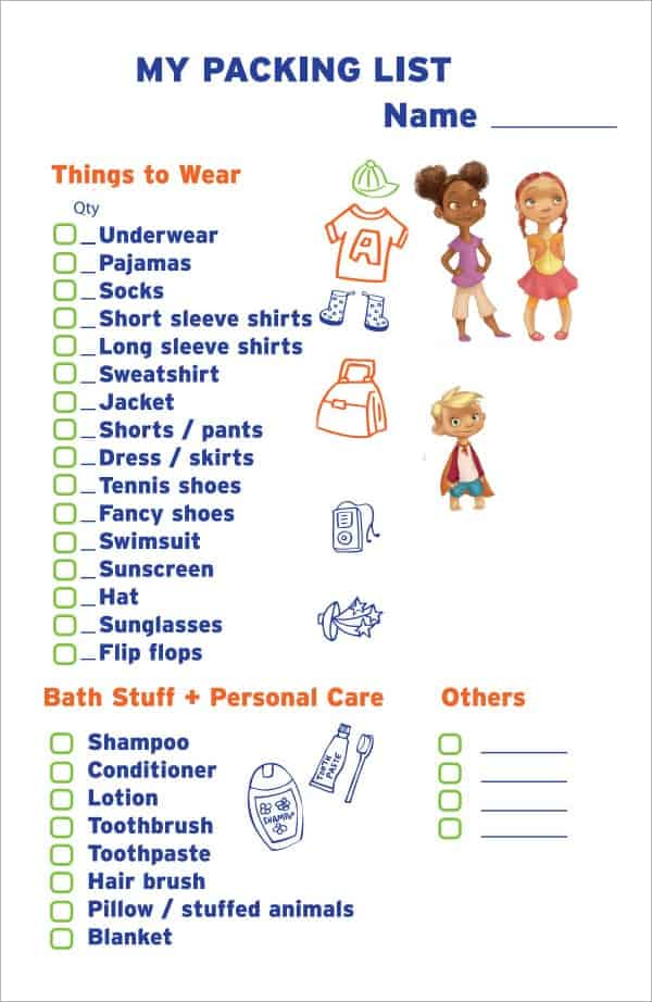 packing list template image 5