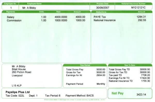 Sample Of Payslip In Excel