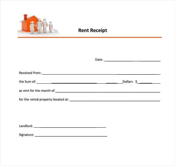 9+ Rent Receipt Templates  Monthly Rent Receipt