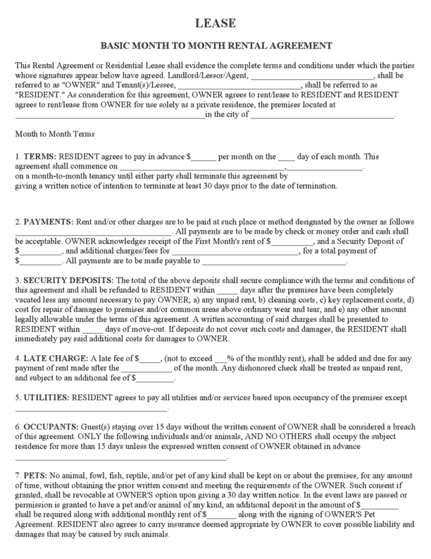 rental agreement template 10