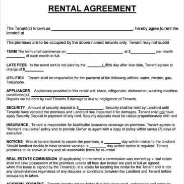 motor vehicle lease agreement template - property rental agreement template archives word templates