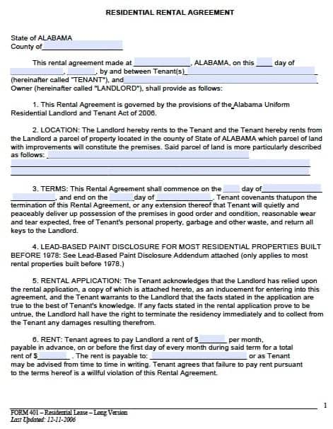Sample Land Lease Agreement Templates Residential Rental Agreement