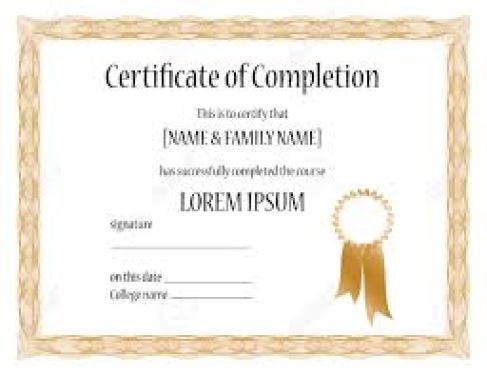 certificate of completion template 65451