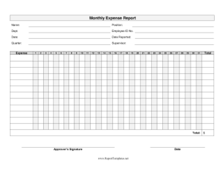 expense report template 64