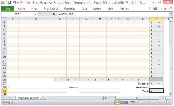 10+ Expense Report Templates - Word Excel PDF Formats