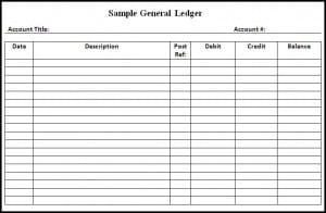 Account Ledger Template  Free General Ledger Template