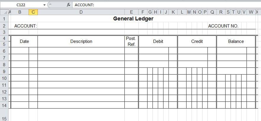 ledger template pdf General Ledger Template PDF Archives - Word Templates