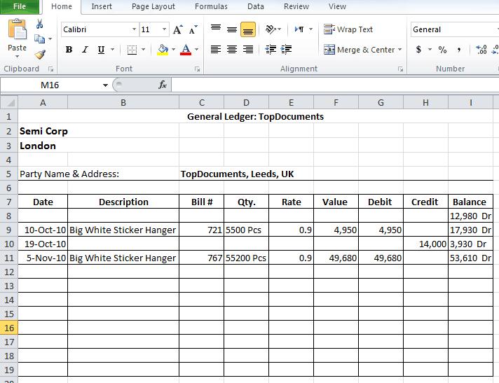 general ledger template 854532