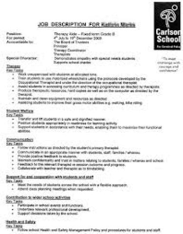 9+ Job Description Templates - Word Excel Pdf Formats