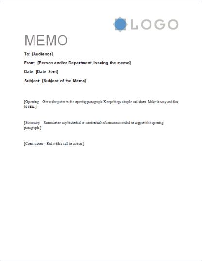 memo template 15432