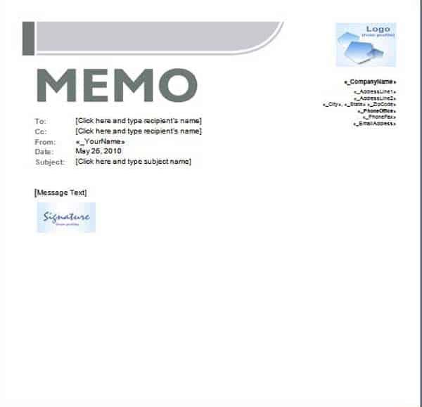 internal memorandum template