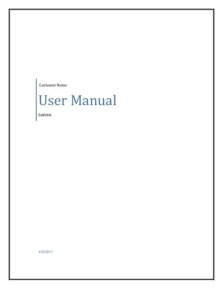 manual user guide template word