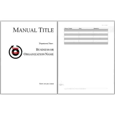 user manual template 451