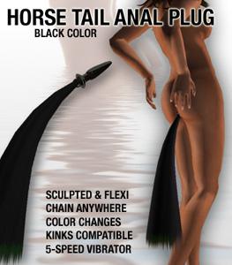 Horse Tail Anal Plug Black