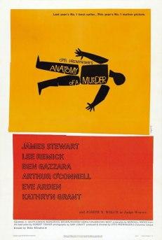 Anatomy of a murder, póster de Saul Bass