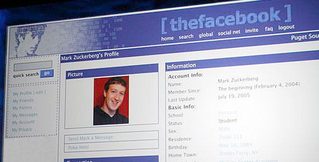 theFacebook-Mark Zuckerberg pagina