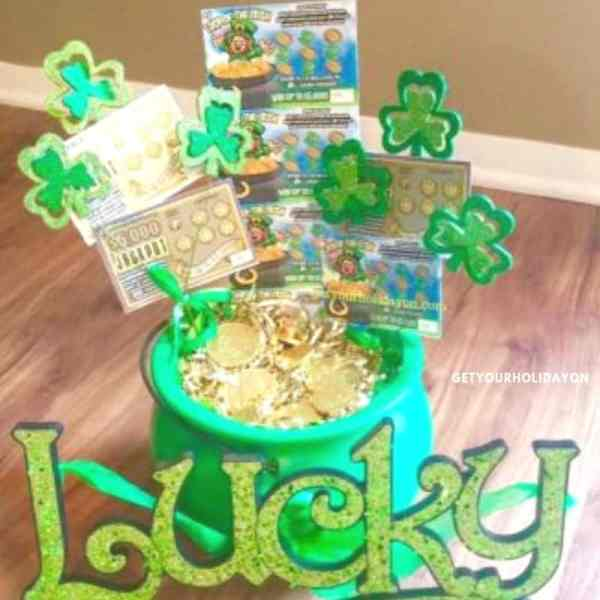 Where's Me Lucky St. Patrick's Day Gift Basket An Irish gift basket, lottery basket, gift basket, unique idea, St. Patrick's Day inspired,