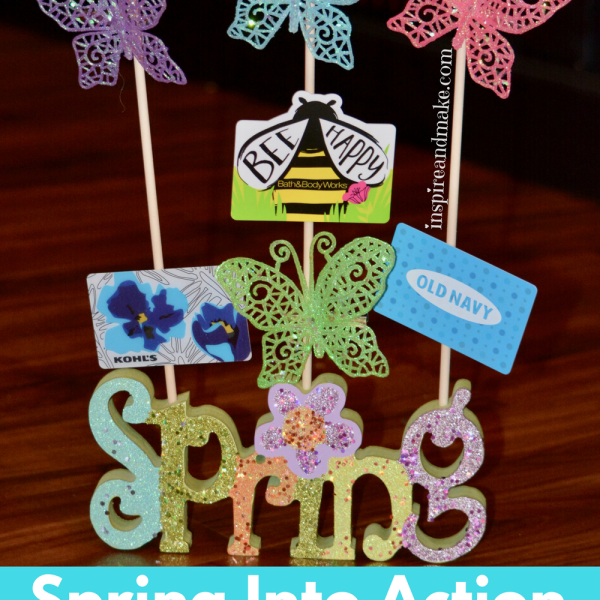 Spring Into Action DIY Gift Card Bouquet...