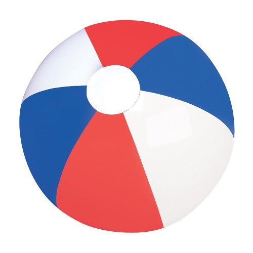Red, White And Blue Beachball
