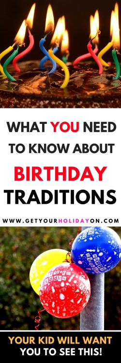 Simple Birthday Traditions For Kids You won't want to miss! #birthday #momlife #forkids #cake