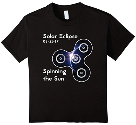 How To Take The Eclipse Experience Up A Notch Solar Eclipse 2017 United States Fidget Spinner Space Shirt