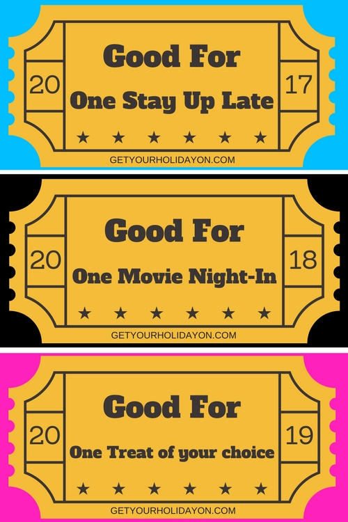 If you're looking for another extra fun idea add one of these tickets to their backpack or lunch box created by getyourholidayon for one stay up late, one movie night-in, or a treat of your choice. These are free coupon/tickets to use whenever you like but adding one these on the first day of school will be extra special and extra fun.