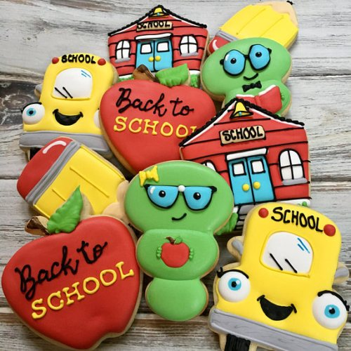 A great way to make a first day of school extra fun is bake a surprise cake for them! How fun would cookies, cupcake, or a cake be when you came in the door from your first day back to school?! Find these cookies on Etsy.