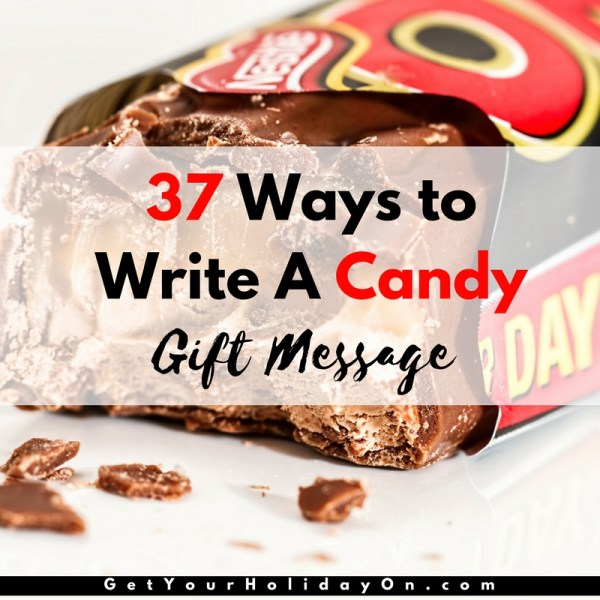 37 of the BEST Candy Gift Tags