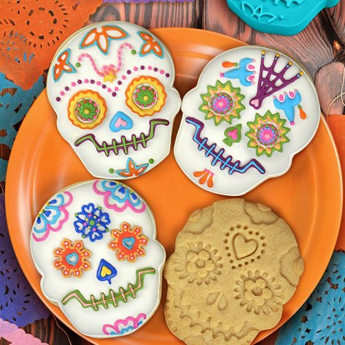25 Halloween Themed Cookies This Skull Cookie Cutter is the perfect addition to your Halloween Themed Cookie Collection.