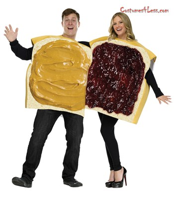 7 Halloween Couple Ideas: Peanut Butter and Jelly Adult Couple Halloween Costumes