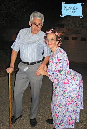 7 Adult Halloween Couple Costumes: A grumpy old man and woman costume.