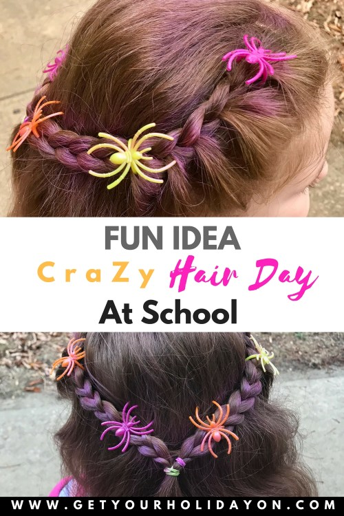 Simple and Easy Crazy Hair Idea for School| Perfect for Spirit Week