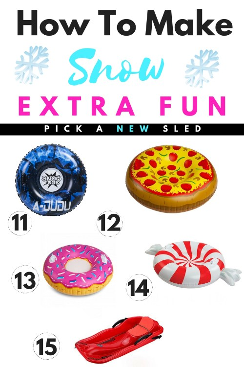 How To Make Snow Time Extra FUN #Christmas #snow #gifts #fun