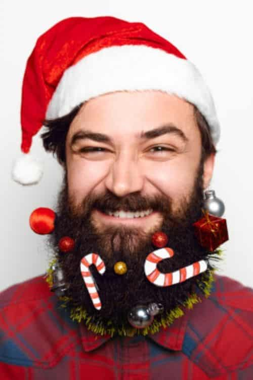 What to put in men's beard at Christmas that's funny