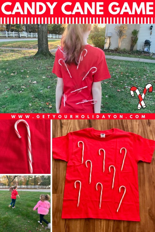 Candy Cane T-Shirt Tag Christmas Party Game #Christmasgames #Christmas #DIYChristmas #DIY