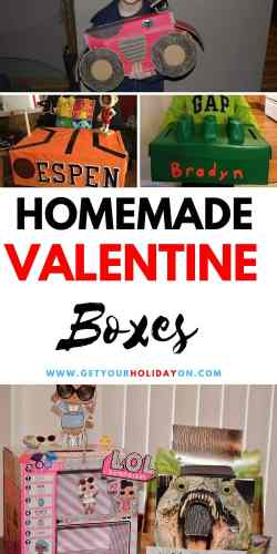 Homemade Vday Boxes for kids to make for school. #momlife #valentinesday #diys #vdaybox