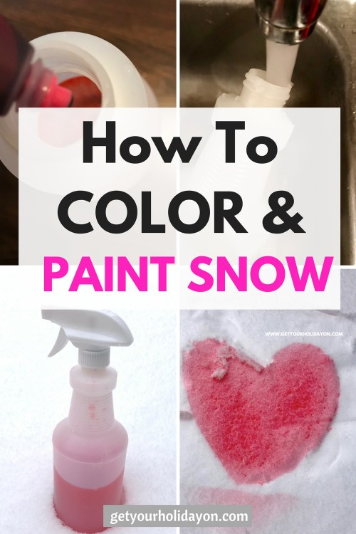 How To Color and Paint Snow! #momhack #snowfun #snow #winteractivity
