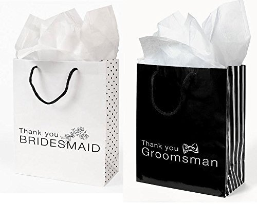 Wedding Party Gifts that will be livened up using these unique gifts bags!