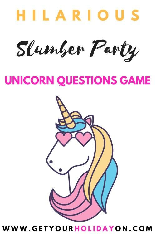 Would You Rather Unicorn Questions #unicorn #magicalcreatures #momlife #DIY #sleepover