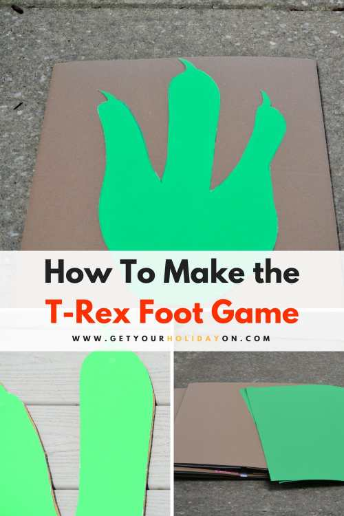 How To Make The T-Rex Foot Game #fossil #dinosaur #party #diycrafts