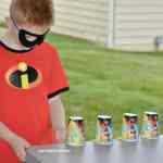 Flip the Cup Incredibles Game #kids #games #momlife #budgetfriendly #diycrafs